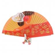 Fã de design flamenco vermelho com laço