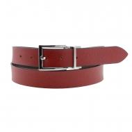 Cinto reversível de couro vermelho e marrom El Caballo