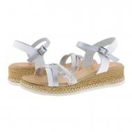 Sandálias de couro com tiras combinadas Porronet