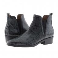 Botas de tornozelo de pele de cobra cinza Wonders D-9204