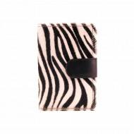 Zebra pele carteira da bolsa