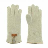 Luvas de lã com laço de couro