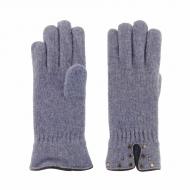 Luvas de lã com tachas de couro