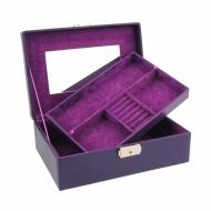 Caixa de jóias retangular média com bandeja