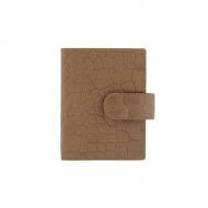Titular de cartão com estampado de couro em coco