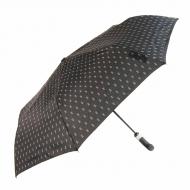 Punho guarda-chuva abre-fecha preto com pontos