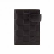carteira de couro bolsa com áspero broche