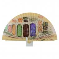 Portas de design de ventilador de camelo e bicicleta