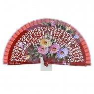 galpão de madeira Abanico vermelho com flores