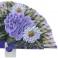Fan design madeira roxa três flores 94383